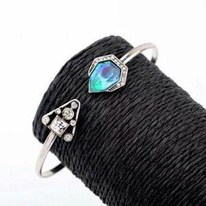 bohemian cuff rhinestone bracelet